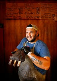 "<p>Michael Wyont's Flores Barbecue was named to&nbsp;<em style=""font-size: 1em; background-color: transparent;"">Texas Monthly</em><span style=""font-size: 1em; background-color: transparent;"">&nbsp;'s list of the Top 50 best barbecue joints in the state in 2017.&nbsp;</span></p>(Tom Fox/Staff Photographer)"