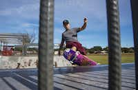 Thomas Quartararo rides his skateboard at Lakeland Hills Skate Park in Dallas. The skatepark is one of the improvements made available with help from the Ferguson Road Initiative. (Carly Geraci/Staff Photographer)