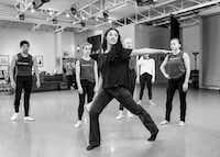 Artistic adviser Kimi Nikaidoh, who appeared in the original 2001 production, teaches <i>Local 126</i> to members of Bruce Wood Dance.(Sharen Bradford)