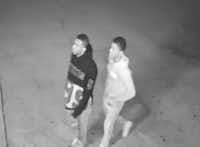 Two men accused of robbing a woman at gunpoint outside of a Fort Worth bar.(Fort Worth Police Department)