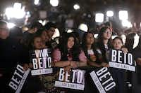 Thousands of supporters attended an election night party for U.S. Senate candidate Rep. Beto O'Rourke at Southwest University Park on Nov. 06, 2018, in El Paso. (Chip Somodevilla/Getty Images)