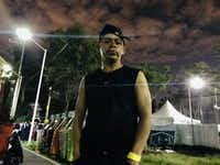 Edwin Edgardo Hernandez is a Honduran who is part of the immigrant caravan headed north to the U.S. border. Hernandez is seen here Thursday, Nov. 8 in Mexico City, Mexico, at a stadium where thousands of immigrants were getting food and shelter,(Alfredo Corchado/Staff Photo)