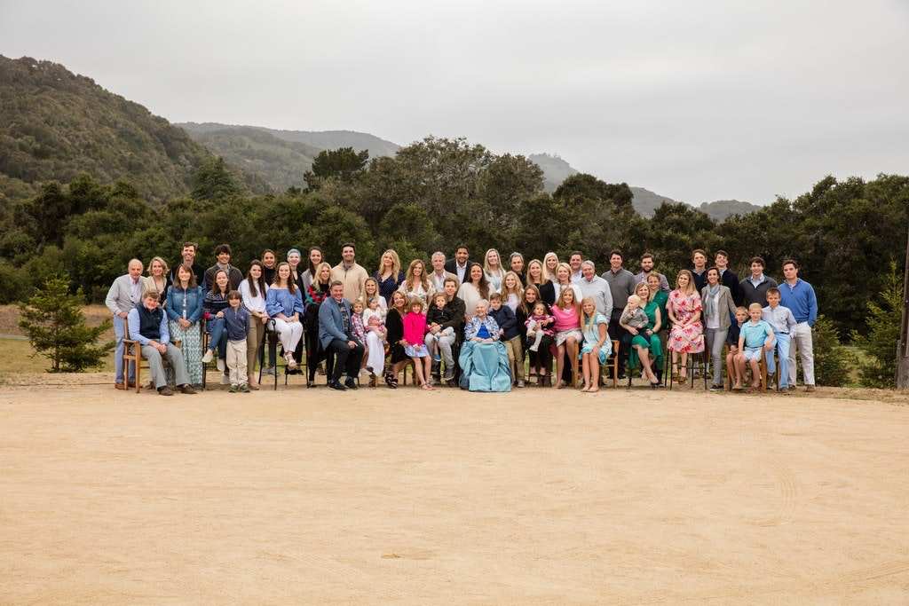 Caroline Rose Hunt is surrounded by her immediate family from her five children of Loyd B. Sands in May at Carmel Valley Ranch, where Rosewood Corp. held its 15th annual stakeholders meeting. (Courtesy Caroline Rose Hunt family)