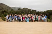 Caroline Rose Hunt is surrounded by her immediate family from her five children of Loyd B. Sands in May at Carmel Valley Ranch, where Rosewood Corp. held its 15th annual stakeholders meeting.(Courtesy Caroline Rose Hunt family)