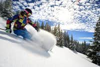 "<p>A skier makes her way downhill at Blue Sky Basin in Vail, Colo. <span style=""font-size: 1em; background-color: transparent;"">The ski destination was certified by Sustainable Travel International as the world's first Sustainable Mountain Resort.</span></p>(Liam Doran/Vail Resorts)"