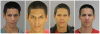 Four mugshots of Raymond Aguero(Dallas County Sheriff's Department)