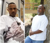 Marco Clewis (left) and Buris Earl Clewis were killed within minutes of each other last month — Marco in a shooting and Buris in a car crash as he chased after the suspects.(Dallas Police Department)
