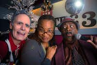 (from l-r) Paul Taylor, Denise Lee and Cherish Robinson in <i>Solstice: A New Holiday Adventure</i>, presented by Theatre Three Dec. 6-30.(Jeffrey Schmidt)