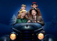 Susannah  Jones  as  Mother,  Christopher  Swan  as  The  Old  Man,  Cal  Alexander  as  Randy  and  Colton  Maurer  as  Ralphie  in <i>A  Christmas  Story,  The  Musical</i>, presented by AT&T Performing Arts Center at Winspear Opera House Dec. 12-16.(Gary Emord Netzley)