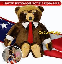 Trumpy Bear, a real product from a real Dallas company.(Exceptional Products, Inc.)