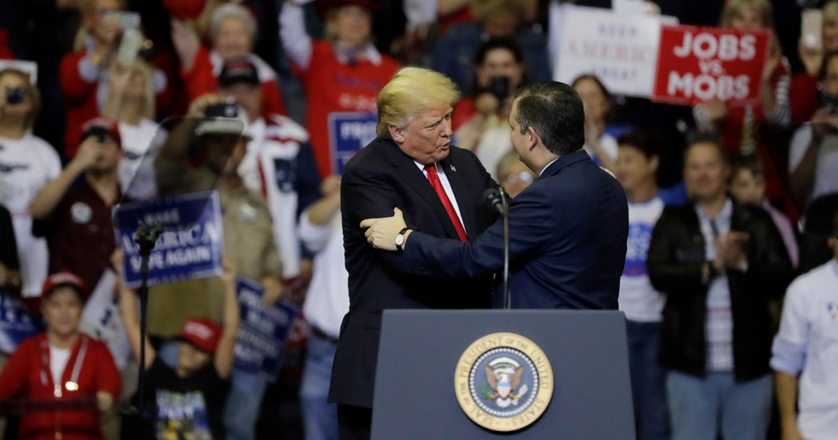 Trump takes credit for Ted Cruz win, but lead over Beto O'Rourke plunged after Houston rally