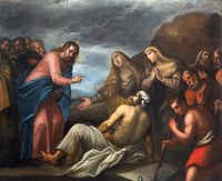 Painting of the Resurrection of Lazarus scene in the church Chiesa di San Gaetano and the chapel of the Crucifixion in Padua, Italy, by unknown painter from 17th century(sedmak/Getty Images/iStockphoto)