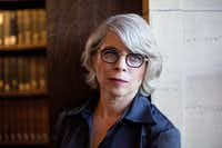 Historian and author Jill Lepore at the Widener Library at Harvard University, in Cambridge, Mass. Her new book,&nbsp;<i>These Truths: A History of the United States,&nbsp;</i>starts with Columbus' arrival and wends through the next five centuries.&nbsp;(Kayana Zymczak/The New York Times)