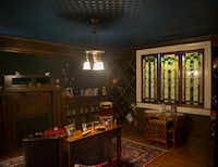 The basement inside the home owned by Christopher Hart and his wife, Alissa Eason, in Dallas. Hart said the house was built in either 1909 or 1914.(Daniel Carde/Staff Photographer)