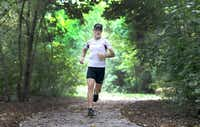 Kyle Heffner, the 1980 Olympic marathoner, at Arbor Hills Nature Preserve in Plano.(Anja Schlein/Special Contributor)