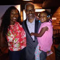Dallas County exoneree Richard Miles, his wife LaToya Miles and their 3-year-old daughter, Raelyn.(Richard Miles)