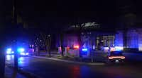 The stabbing happened at a high-rise apartment building on Hood Street in Oak Lawn.<br>(Metro Video Dallas/Fort Worth<br>)