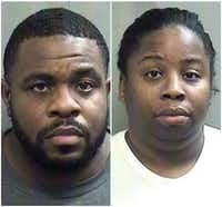 "<p><span style=""font-size: 1em; background-color: transparent;"">Derick Roberson, 38, and Shamonica Page, 34, were booked into the Arlington Jail on injury to a child charges.</span></p>(Arlington police)"