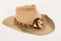 Willie Nelson gave fellow singer-songwriter Bobby Bare this hat embellished with a mink skull, gemstone, feathers and snake skin in the early 1970s. (Bob Delevante/Country Music Hall of Fame and Museum)