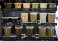 Soups in the case at Stocks & Bondy.(Jae S. Lee/Staff Photographer)