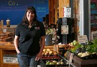Susie Marshall poses for a portrait at Market Provisions at the Dallas Farmers Market in Dallas, which offers fresh local produce.(Vernon Bryant/Staff Photographer)