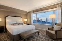 Guests can stay in the Signature King Room at the breathtaking Fairmont San Francisco hotel on Nob Hill.(Fairmont San Francisco/Courtesy)