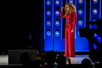 Supermodel and business mogul Tyra Banks hosted the Women That Soar award dinner at the Statler Hotel Dallas on Nov. 10 and wore a design created by London Burton.(Shaban Athuman/Staff Photographer)