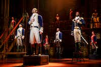 The national tour of <i>Hamilton  </i>will be presented by Dallas Summer Musicals and Broadway Across America at Fair Park Music Hall April 2-May 5. Joseph Morales and Nik Walker will lead the national tour of <i>Hamilton</i> coming to Dallas as Alexander Hamilton and Aaron Burr, respectively.(Joan Marcus)
