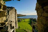 A turret in Castle Sween offers commanding views over Knapdale and the sea. The castle and its strategic location along Scotland's western seaboard are evidence of a maritime kingdom of Norse-Gaelic warriors whose story is largely lost to history.(J. David McSwane/Staff)