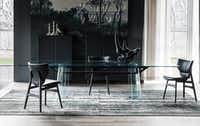 The to-the-trade-only Cantoni showroom features  a collection of mostly Italian furnishings, many exclusive to the Texas market, such as the kLirr Dining Table by Cattelan Italia.(Cantoni)
