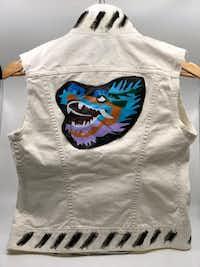 Stephanie Quadri had KCA Design paint a dragon on her denim vest in honor of her son.(Stephanie Quadri)