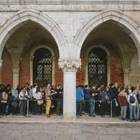 More than 30 million people visit Venice annually, swamping the local population of 50,000.(Marco Zorzanello /The New York Times)