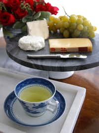 Japanese green tea favors young, creamy cheeses(Louis DeLuca/Staff Photographer)
