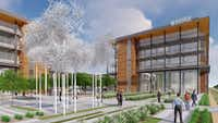 <p>Billingsley Co. has broken ground on two more office buildings at Cypress Waters while it works on plans for a 10-story tower.</p>(Billingsley)