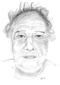 Police released a sketch of a man killed in a crash Nov. 11. Anyone with information on the man's identity may contact the Dallas Police Department.(Dallas Police Department)