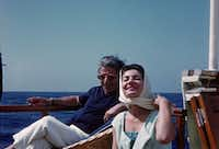 Aristotle Onassis with Maria Callas, from the documentary <i>Maria by Callas: In Her Own Words</i>.&nbsp;(Sony Pictures Classics)