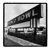 Shot May 10, 1991 - Exterior shot of the Bronco Bowl on Ft. Worth Avenue (John F. Rhodes/Staff photographer)