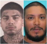 <p>Robert Santos Rico (left) is one of three people charged with murder in the death of Diego Martinez.</p>(Tarrant County Sheriff's Department, Fort Worth Police Department)