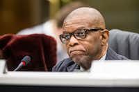 Chairman John Paul Batiste listened during a Culture Affairs Commission meeting in the Dallas City Council briefing room on Thursday, November 15, 2018. (Shaban Athuman/Staff Photographer)