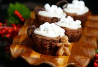 Gingerbread Hot Cocoa Cups with Spiced Marshmallow Cream by Ava Bell Reynolds (Nathan Hunsinger/Staff Photographer)