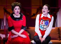 Janelle Lutz performs as Judy Garland and Sarah Elizabeth Price plays Liza Minnelli in 'A Very Judy Christmas,' an original show written and directed by B.J. Cleveland for Uptown Players at the Kalita Humphreys Theater.(Ashley Landis/Staff Photographer)