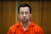 In this Feb. 5, 2018, file photo, Larry Nassar listens during his sentencing at Eaton County Circuit Court in Charlotte, Mich.(Cory Morse/AP)