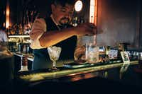 Owner Federico Cuco makes a clarito at Verne Cocktail Club. A decade ago, he led a successful campaign to revive the forgotten mid-20th-century riff on the dry martini.You can now order a clarito anywhere in the city.(Agustin Nieto/The New York Times)