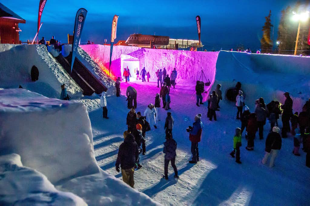 """<p>The Snow Fort at Keystone will be festively lit on Dec. 22 as part of the resort's monthlong festivities.<span style=""""font-size: 1em; background-color: transparent;"""">Covering 7,650 square feet, it has slides, tunnels, a maze, rope climbs and a jail.</span></p>(Courtesy/Keystone Ski Resort)"""