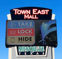 "<p><span style=""font-size: 1em; background-color: transparent;"">A ""Take, Lock, Hide"" sign is seen at Town East Mall in Mesquite.</span></p>(2017 File Photo/Staff)"