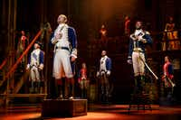 The national tour of 'Hamilton,' the hotly awaited blockbuster Tony Award, Grammy Award and Pulitzer Prize-winning musical, presented by Dallas Summer Musicals and Broadway Across America, is coming to Fair Park Music Hall April 2-May 5, 2019. Hamilton   Joseph Morales and Nik Walker will lead the second national tour of Hamilton as Alexander Hamilton and Aaron Burr, respectively.(Joan Marcus)