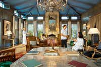 Guests relax in the Blue Room at Lakehouse Spa at Lake Austin Spa & Resort, a serene retreat on the shores of Lake Austin. (Lake Austin Spa Resort/Courtesy)