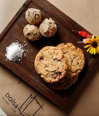 Chocolate and peanut butter chip cookies with sea salt (Rose Baca/Staff Photographer)
