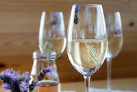 Lavender syrup and champagne (Rose Baca/Staff Photographer)
