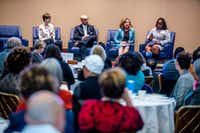 From left: Ann Beeson, CEO of the Center for Public Policy Priorities; Miguel Solis, a Dallas school board member;&nbsp; Regina Montoya, a candidate for Dallas mayor; and Leona Allen, a <i>Dallas Morning News</i> editorial board member, participated in a panel discussion Tuesday&nbsp; of the State of Texas Children 2018 report.(Shaban Athuman/Staff Photographer)